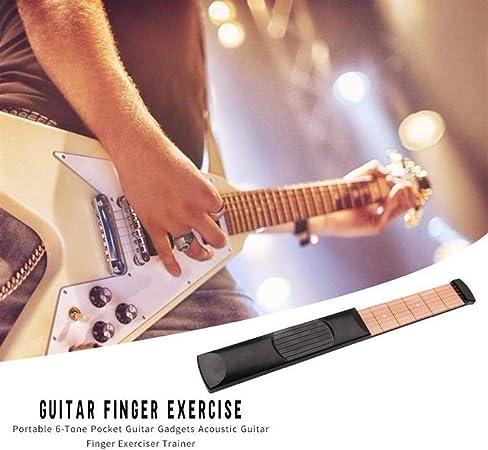 Portable Pocket Practice Modell 6 String Gitarre aus Holz Fret Guitar 6 Trainers