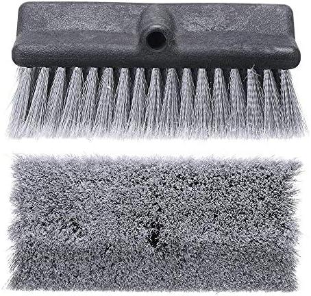 掃除用品 交換用スペアクリーニングブラシヘッド用伸縮水連銀のウィンドウカーウォッシュブラシ 家庭用 (Color : Gray, Size : One size)