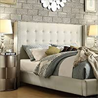 Homelegance Marion Headboard in White Linen, King