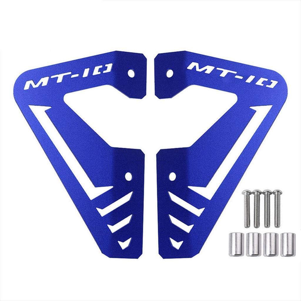 Ayouyue MT10 FZ10 Accesorios Aluminio Radiador Placa lateral Cubierta del panel Protector Protector para Yamaha MT FZ 10 MT10 FZ10 15-16 2015-2016 BLUE