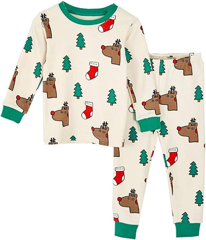 100% Algodón Pijama Para Niños Cálido Ropa Cómoda 2 Piezas De ...