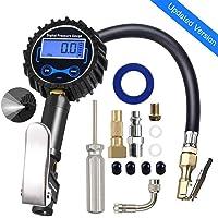 $25 » JYSW Digital Tire Pressure Gauge,200PSI Portable Air Pressure Gauge Heavy Duty Air Chuck and…