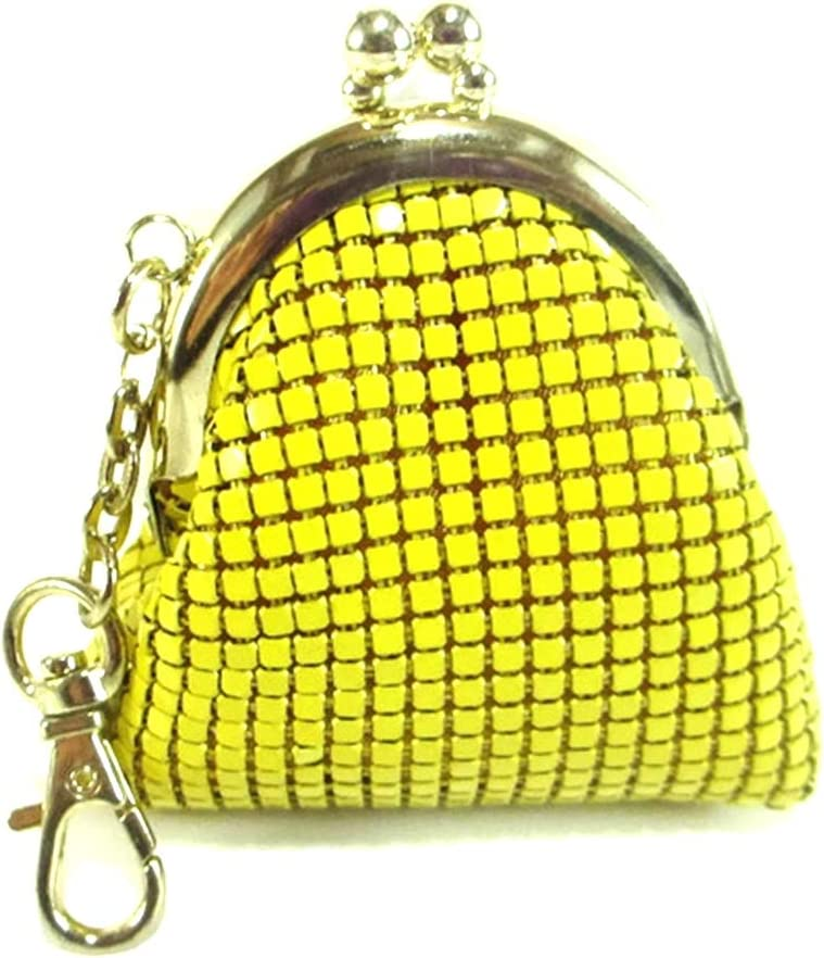 Color mum in textured faux leather  Kisslock pouch  Clasp change purse Pearly gold Metal frame coin purse with color bobbles