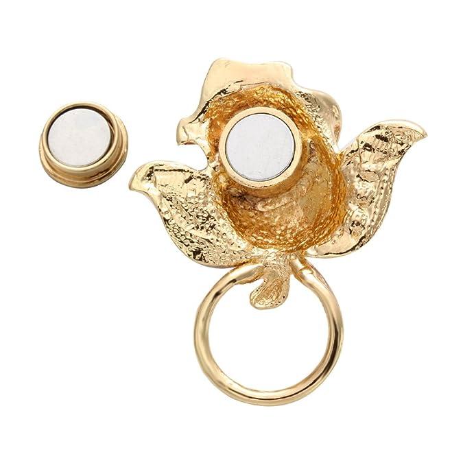 noumanda Big Rose Fleur Lunettes de soleil magnétique support magnétique porte lunettes en forme de broches pour Lover Valentines cadeau qptaT5IU