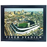 Framed Detroit Tigers Stadium Final Day Aerial Wall Art Print F7533A