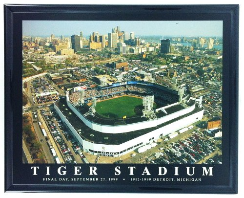 (Framed Detroit Tigers Stadium Final Day Aerial Wall Art Print F7533A)