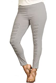 2f7b1dcd5a6 Umgee Washed Moto Jeggings with Pintuck and Zipper Detail at Amazon ...
