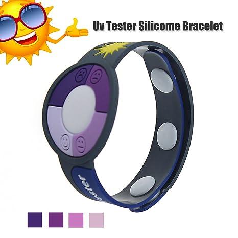 Outdoor UV Tester Band,MBODM UV Meter Testing Ultraviolet Bracelet Watch Rays Sensor Indicator Detector