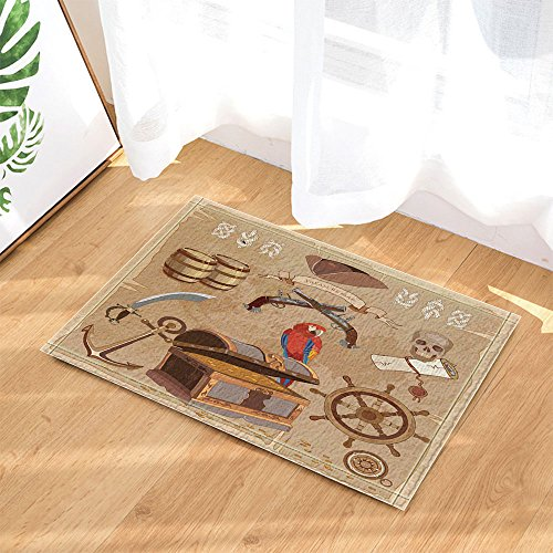 Nymb Adventure Pirate Treasure Map Bath Rugs For Bathroom
