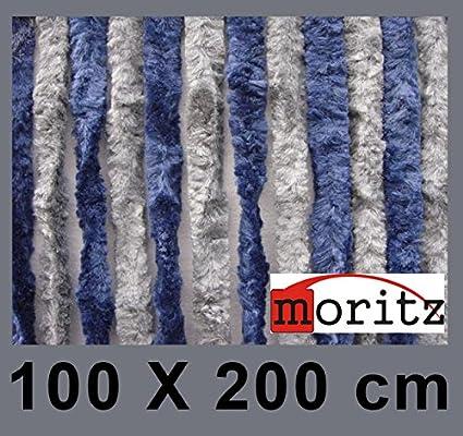Rideau chenille Moritz® - Avec moustiquaire - Dimensions: 100 x 200 cm - 24 brins