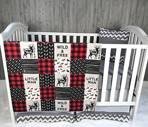 Baby Boy/Girl Chevron, Baby Bedding, Woodlands, Buck, Deerly Loved, Buffalo Plaid, Neutral, Crib Bedding, Nursery Room, Babylooms from Babylooms