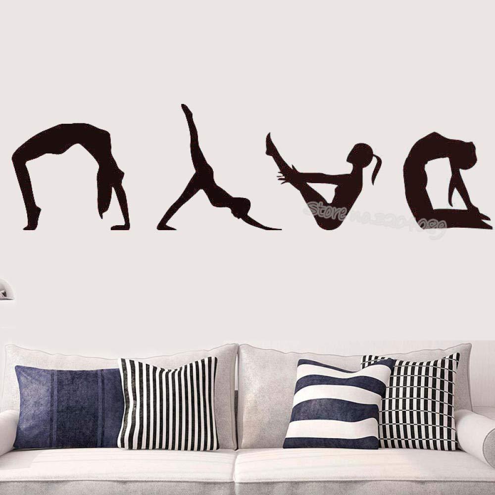 Yoga pose etiqueta de la pared meditación Zen mural ...