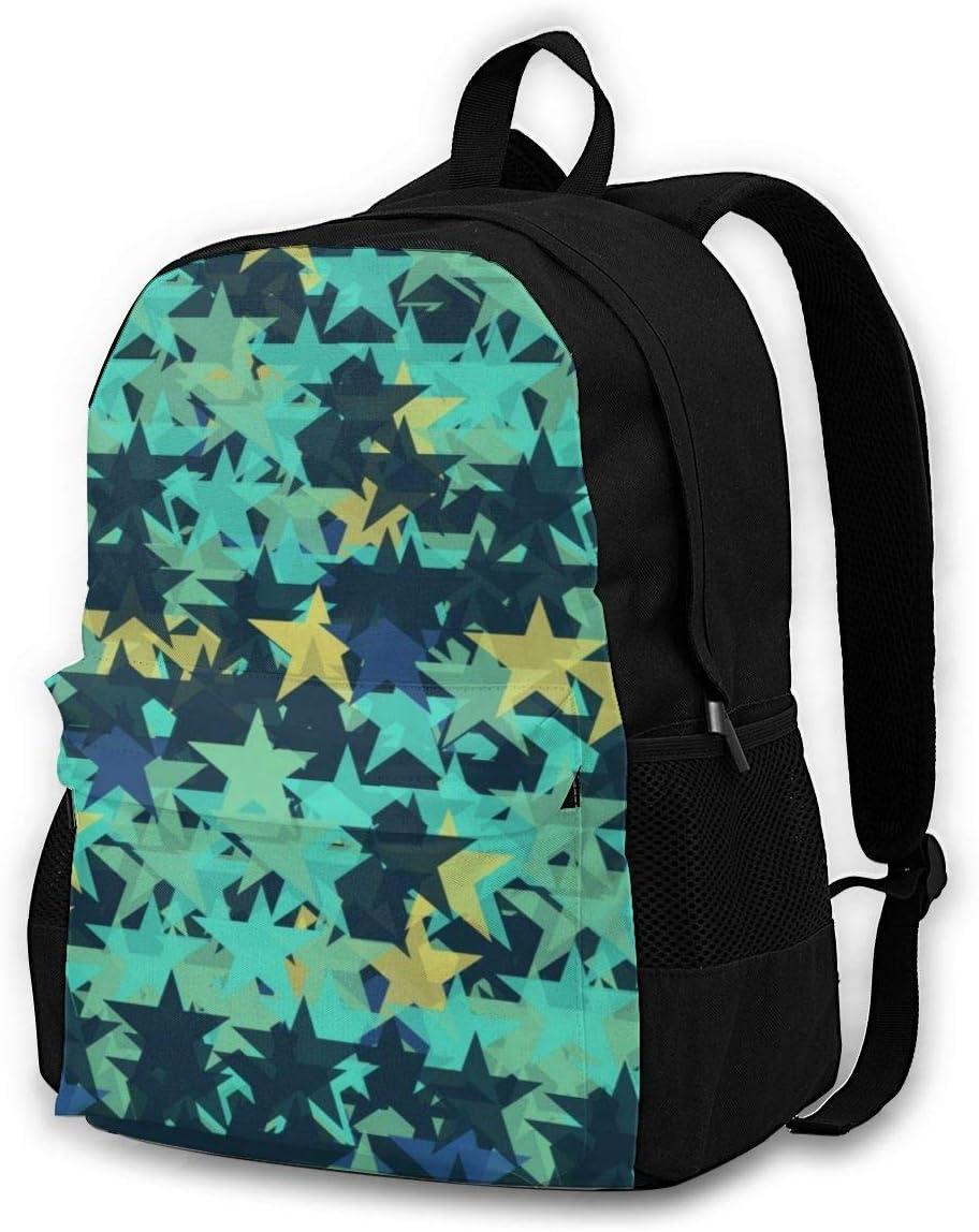 Blue Star Casual Backpack Waterproof Laptop Backpack for Men Women Daypack