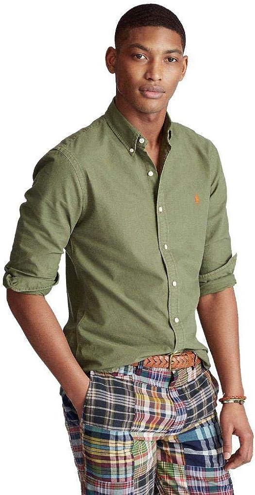 Ralph Lauren Camisa Verde Militar para Hombre: Amazon.es: Ropa y accesorios