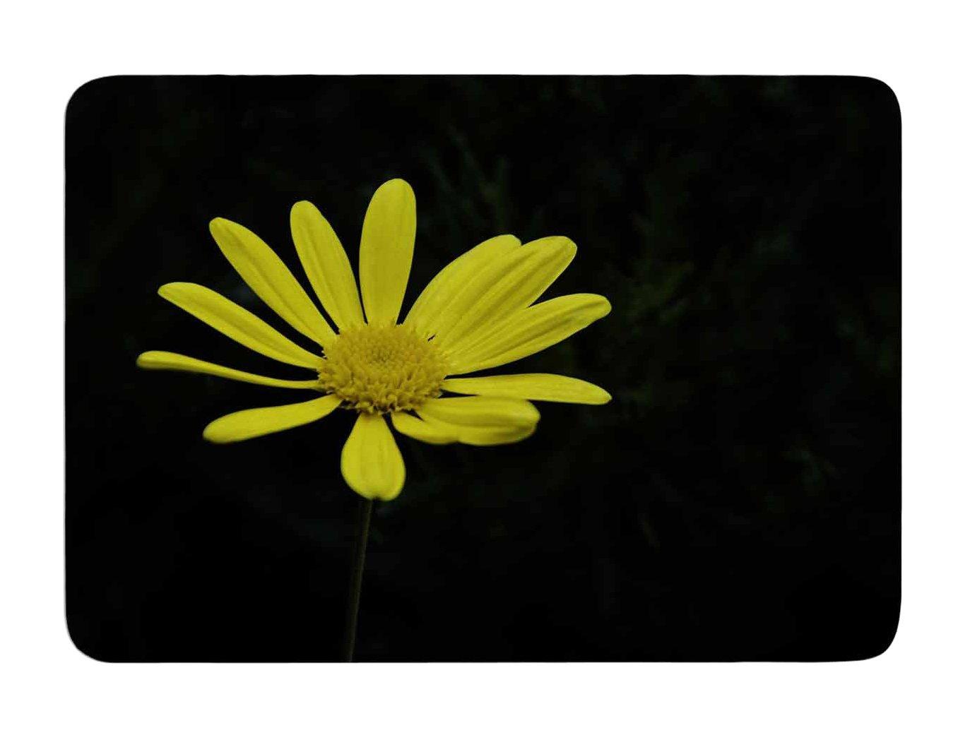 24 X 36 Kess InHouse Nick Nareshni Yellow Pedal Daisy Floral Photography Memory Foam Bath Mat 24 by 36-Inch