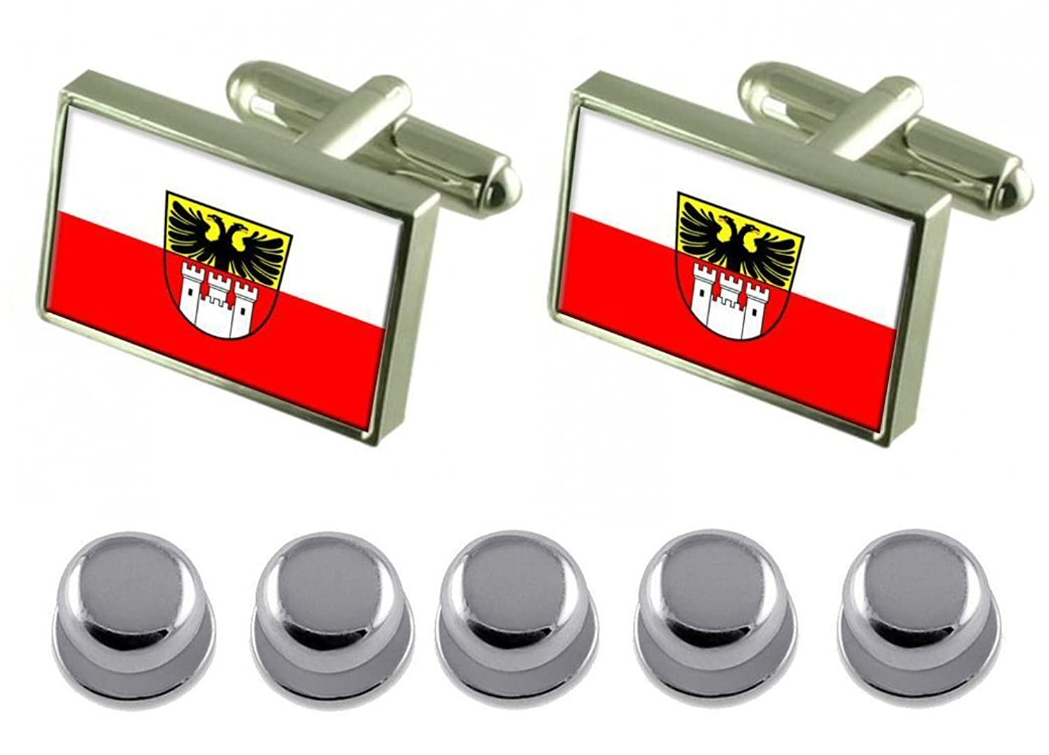 Shirt Dress Studs Duisburg City Germany Flag Cufflinks