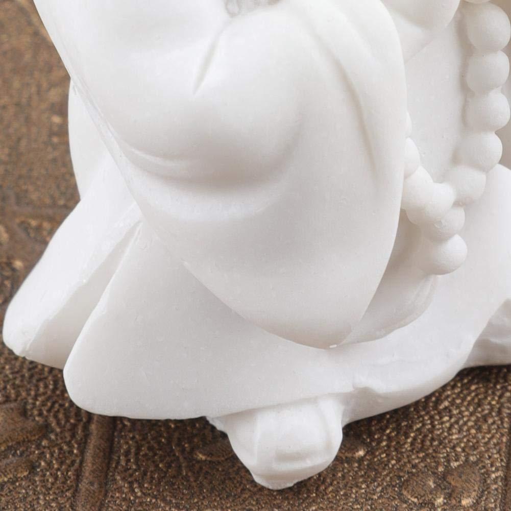 Escultura de Buda 2 resistente y duradero piedra arenisca blanca peque/ña oraci/ón de Buda figura estatua escultura resina arte artesan/ía decoraci/ón