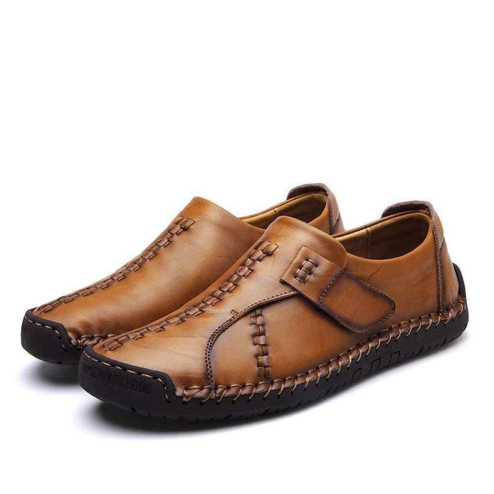 Herbst und Sommer Herrenschuhe koreanische Version des Trends von Flying Woven Sportschuhe Herren Casual Flying Woven Breathable Mesh Schuhe (Farbe   7808lightbraun, Größe   44)