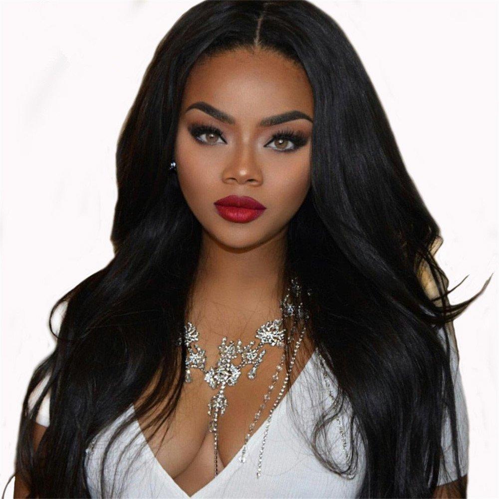 Amazon.com : Human Hair Full Lace Wig Senior Silk Glueless Beads With My White Women Human Hair 100% Wigs Brazil High Weaving Girl Hair Wig : Beauty