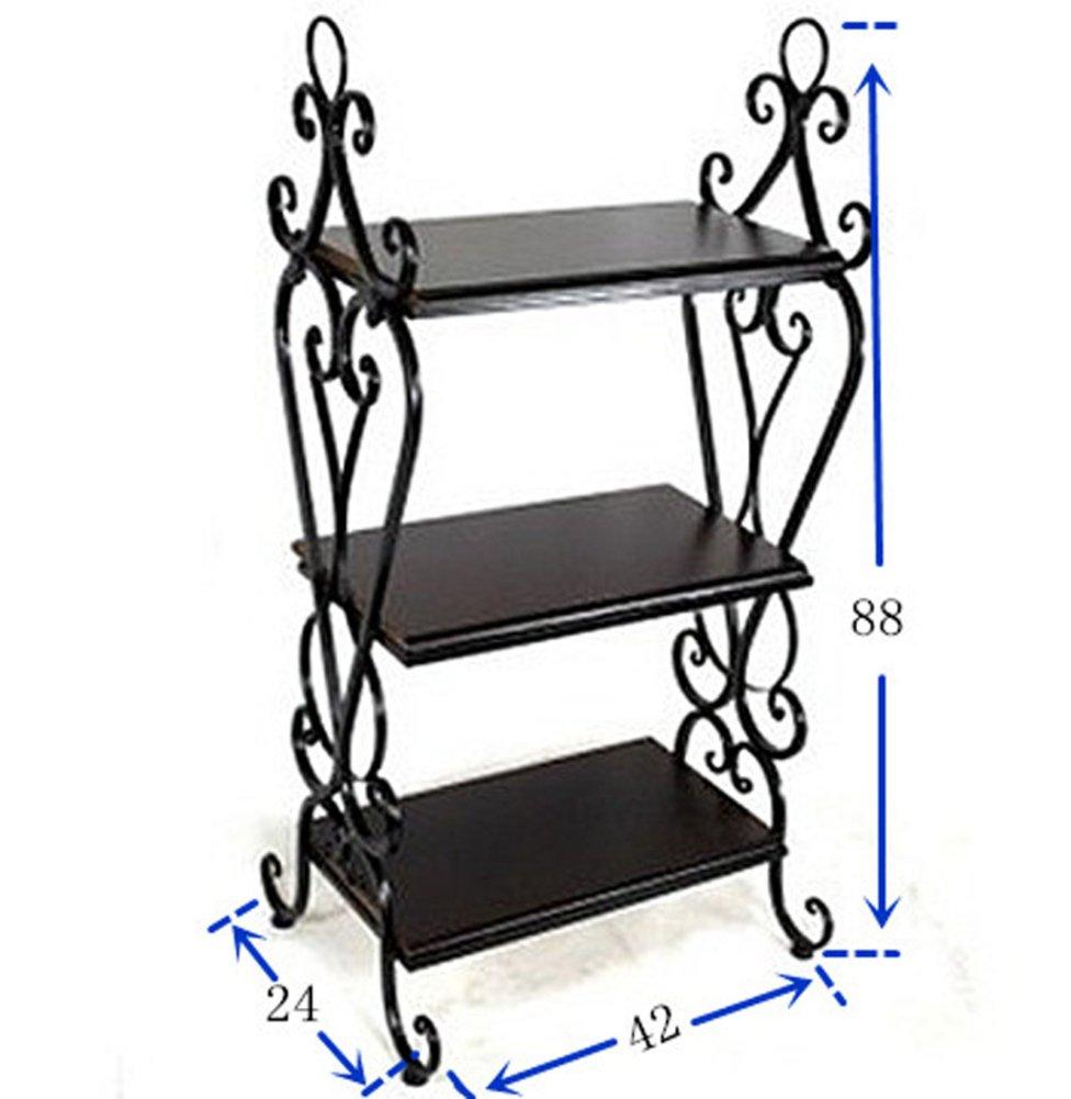 Hot Sale 2017 Wrought Iron Racks Floor Shelves Bathroom