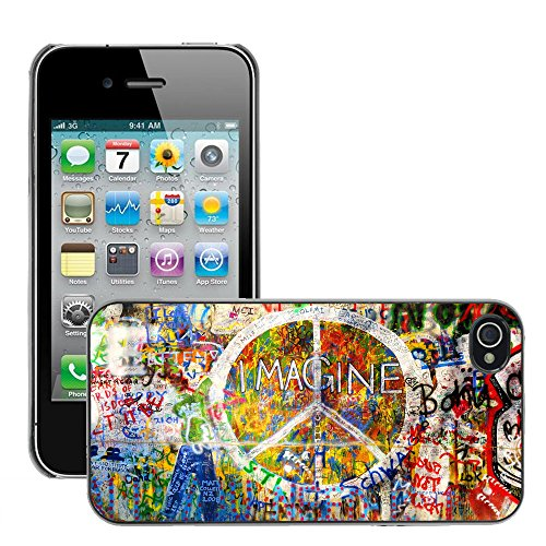 Premio Sottile Slim Cassa Custodia Case Cover Shell // V00002084 Imaginez mur // Apple iPhone 4 4S 4G