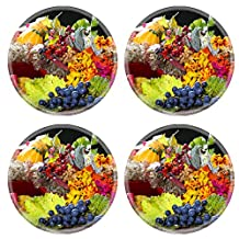 Liili Natural Rubber Round Coasters IMAGE ID: 23251212 Autumnal still life
