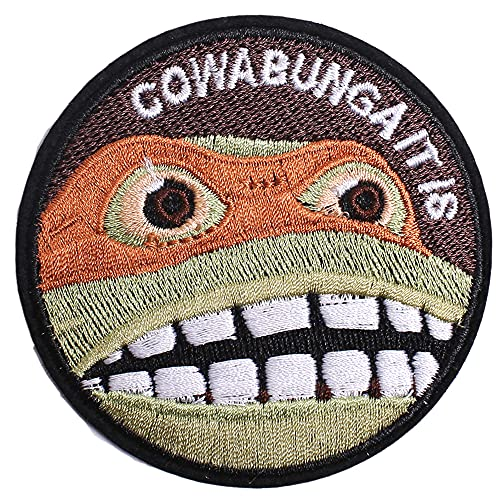 AXEN Cowabunga It is Patches Embroidered Iron on Badge Patches, Iron On Sew On Emblem Patches DIY Accessories, Pack of 2
