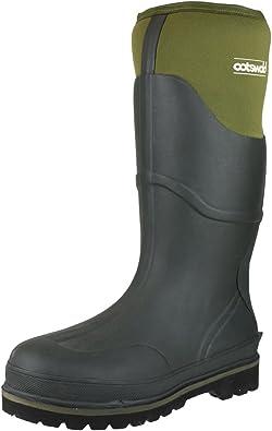 R22D Mens Spot On Wellington Boots X1R087 Grey//Black