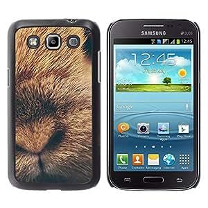 Conejo lindo del perrito del bebé animal de piel - Metal de aluminio y de plástico duro Caja del teléfono - Negro - Samsung Galaxy Win I8550