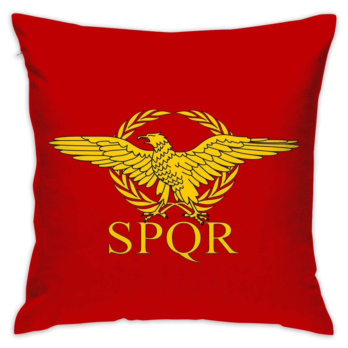 CrownLiny Roman Empire Senate and People of Rome Flag Sofa Cushions Covers Couch Pillows Shams Pillowcase