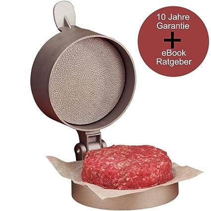Profesional Aluminio Fundido Prensa para hamburguesas | pattygröße manual ajustable, 11 cm de diámetro,