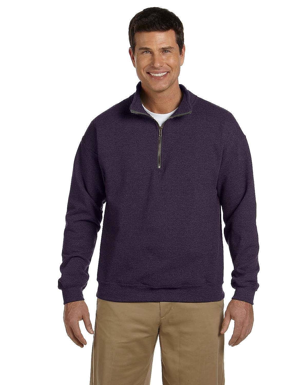 G188 Vintage Classic Quarter-Zip Cadet Collar Sweatshirt - BLACKBERRY,2XL Gildan Heavy Blend/™ 8 oz