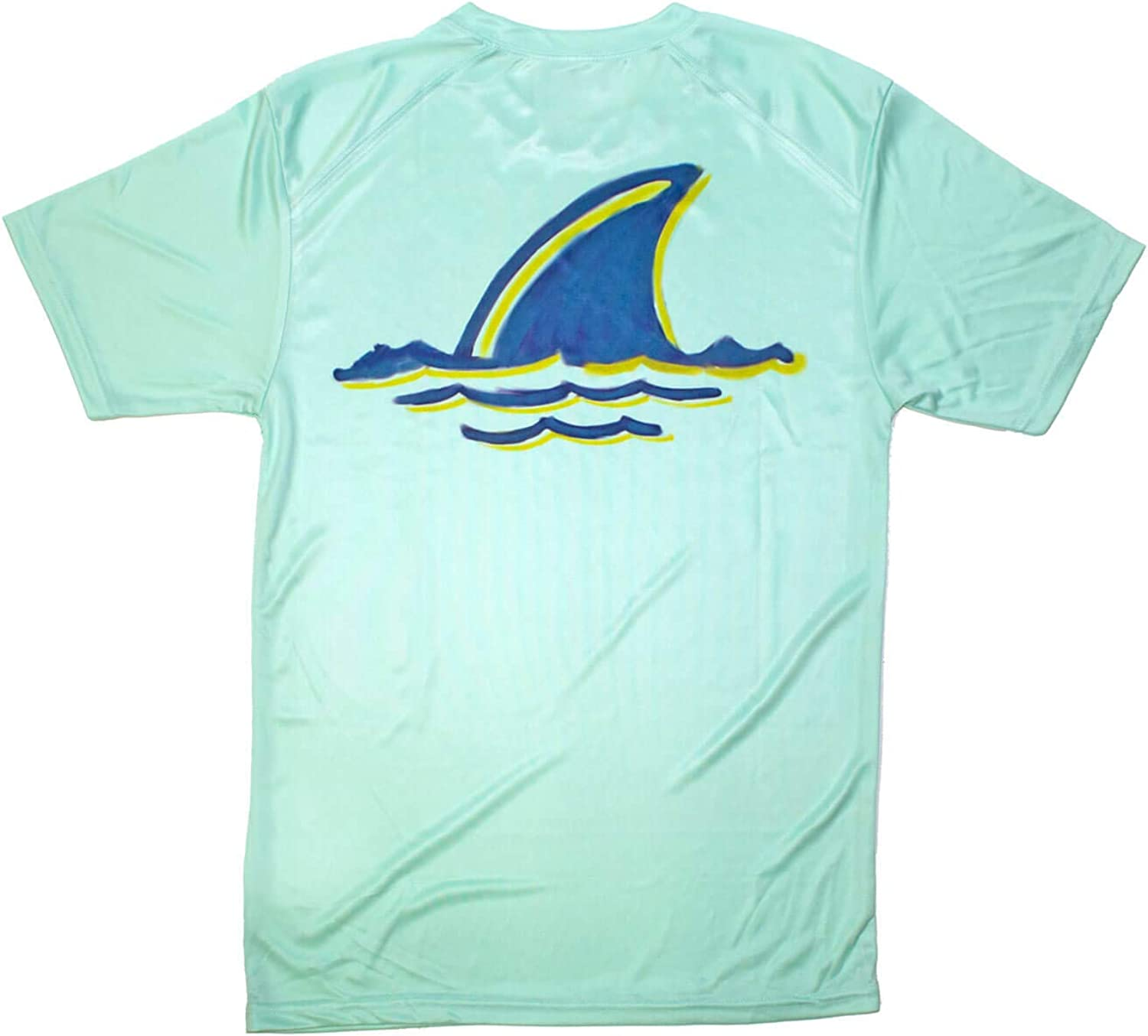 Margaritaville Men's Landshark Fins Up Microfiber Short Sleeve Performance T-Shirt
