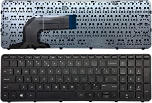 New English Laptop Replacement Keyboard for HP Pavilion 350 G1 Series 350 G2 6037b0095501 SG-59840-XUA 752928-001 758027-001 US Layout with Frame