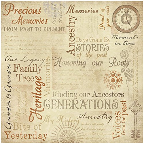 "Ancestry Paper 12""X12""-Memories Collage  25 per"