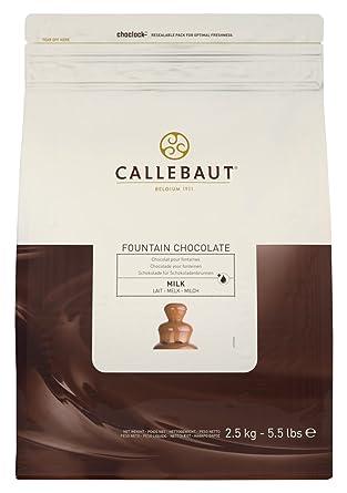 Callebaut Chocolate con leche para fuentes de 2,5 kg
