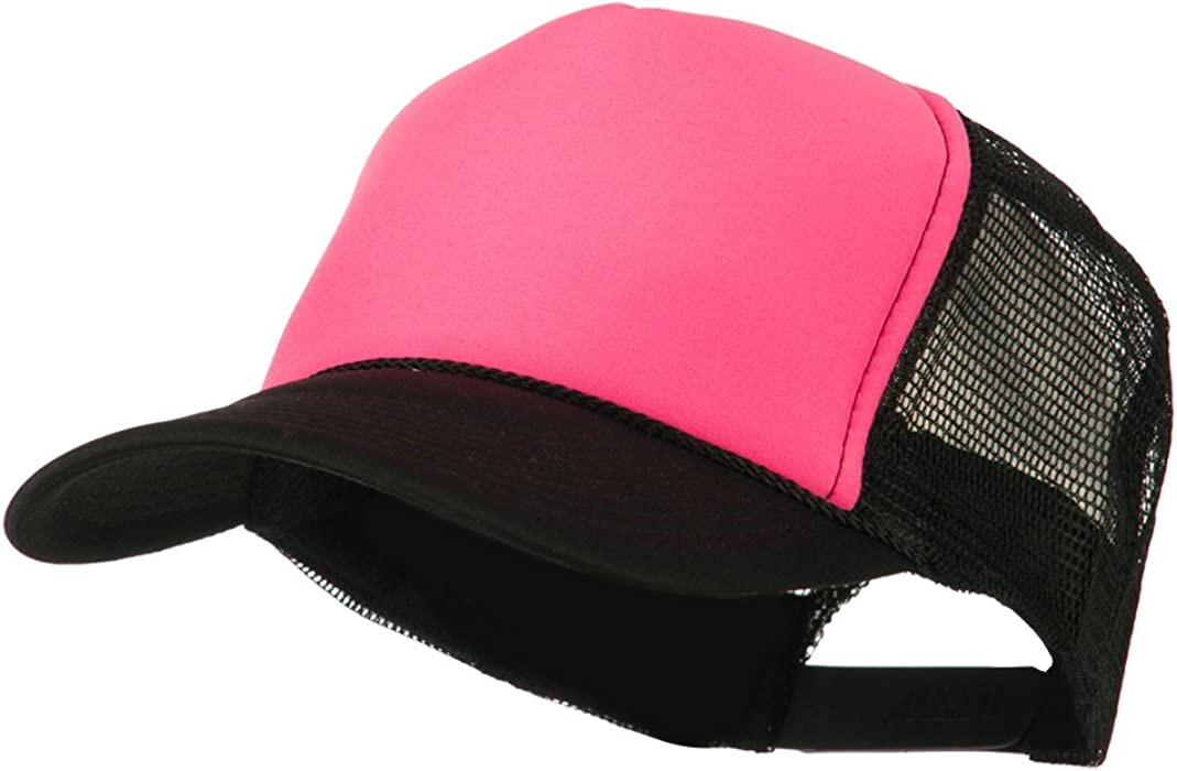 26984b6a Neon Polyester Foam Front Trucker - Black Pink OSFM at Amazon ...