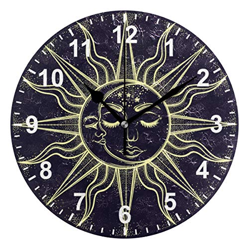 Second Hand Clive Christian Kitchen: Amazon.com: DOPKEEP Bohemian Sun And Moon Wall Clock Oil