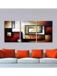 paintings for bedrooms. ARTLAND Modern Abstract Painting on Canvas  The Maze Of Memory 3 Piece Gallery Shop Amazon com Paintings