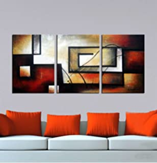 ARTLAND Modern 100% Hand Painted Abstract Oil Painting On Canvas The Maze  Of Memory 3