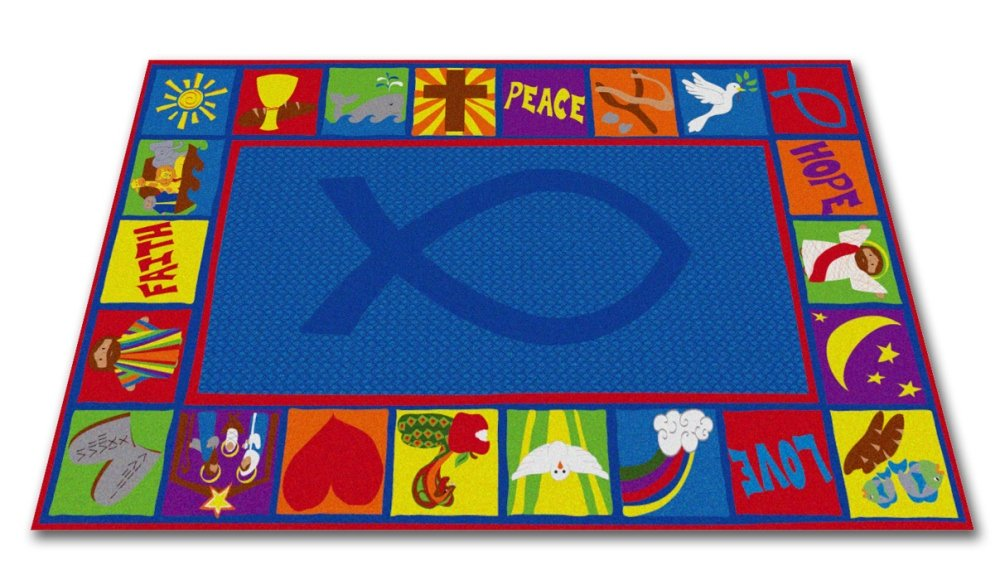 Kid Carpet Bible Square Christian School Rug, 4' x 6' by Kid Carpet
