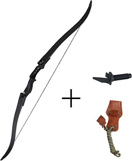 """54/"""" 40 Lbs Archery Hunting Recurve Bow Takedown Sporting Right Handed Shooting"""