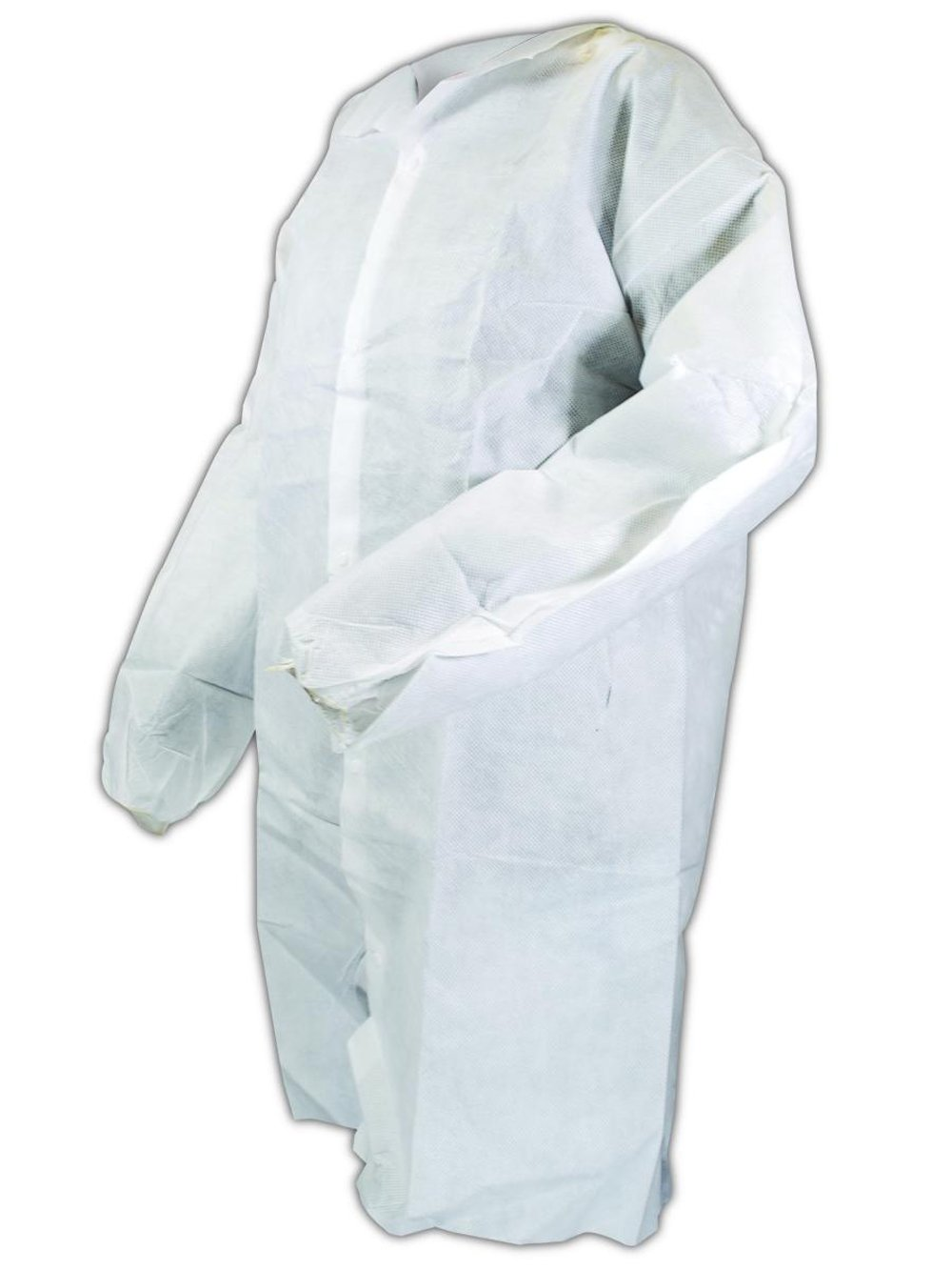 Magid C8L EconoWear Lite N Kool SMS Disposable Lab Coat with Snap Front, Large, White (Case of 50) by Magid Glove & Safety (Image #1)