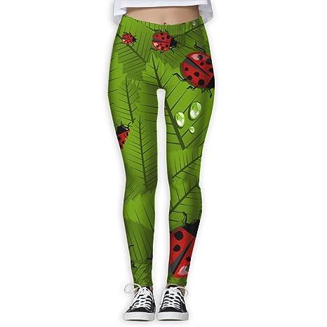 6965281273da64 Nuo Beike Adorable Ladybug Women's Fashion Leggings Pants Quick Dry Capri Leggings  Workout Pants Gym Tights