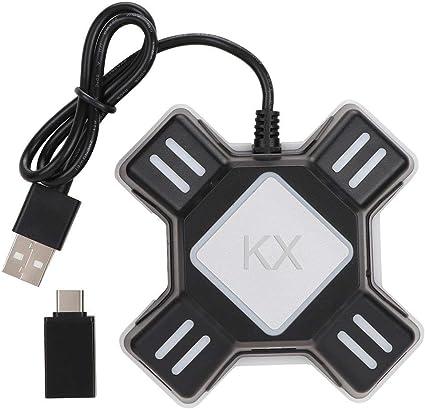 VR@LOVE PS4 Adaptador Teclado y Ratón, convertidor del regulador ...