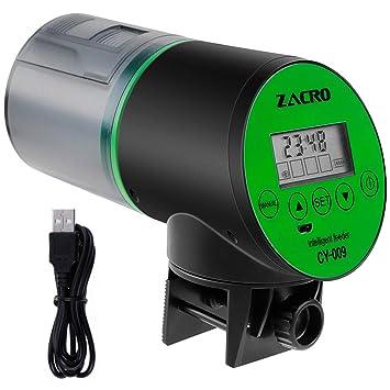 zacro - Comedero automático con Temporizador Digital, 200 ml, Gran ...