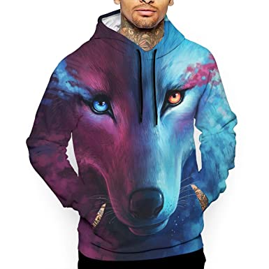 7a0cb7582769 Amazon.com  Moon Fire Wolf Unisex 3D Printed Pullover Collage Hoodies  Sweatshirts Hooded Sweaters Most Streetwear For Men And Women  Clothing