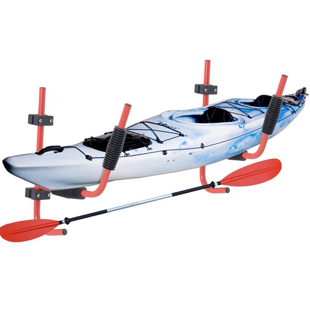 Steel Kayak Ladder Wall Mount Storage Rack Bike Surfboard Canoe Folding Hanger by Sawan Shop (Image #7)