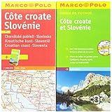Carte + Guide Marco Polo Côte Croate & Slovénie