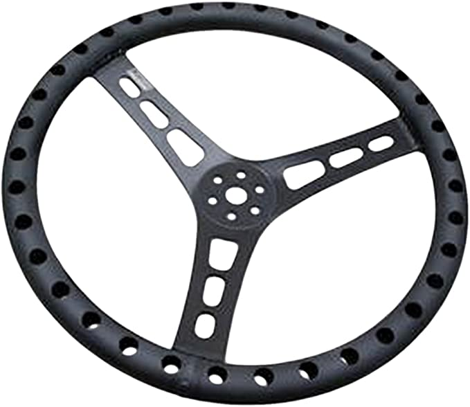 Joes Racing Products 13513-B 13in LW Steering Wheel Alum Dished
